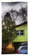 Suburban Dream - House With Blue Car Beach Towel