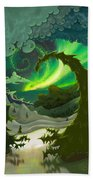 Dream Landscapes Aurora Green Beach Towel