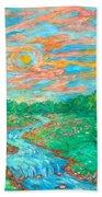 Dream River Beach Towel