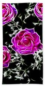 Dream With Roses Beach Towel