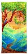 Dreaming Of Bluebells Beach Towel