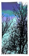 Dreaming Of Spring Through Icy Trees Beach Towel