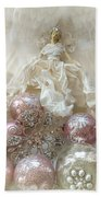 Dreamy Angel Christmas Holiday Shabby Chic Love Print - Holiday Angel Art Romantic Holiday Ornaments Beach Towel