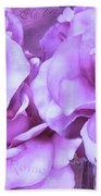 Dreamy Shabby Chic Purple Lavender Paris Roses - Dreamy Lavender Roses Cottage Floral Art Beach Sheet