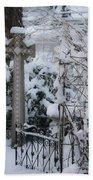 Dreamy Snowy Cross Beach Towel