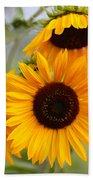 Dreamy Sunflower Day Beach Towel