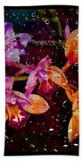 Drenched Flowers Beach Towel
