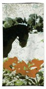 Dressage Roses Beach Towel