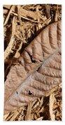 Dried Leaf Beach Towel