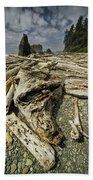 Driftwood And Sea Stacks On Ruby Beach Beach Towel