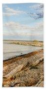 Driftwood On Shore Beach Towel