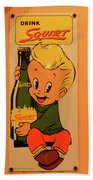 Drink Squirt Sign Beach Towel