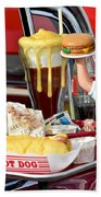 Drive-in Food Classic Beach Towel