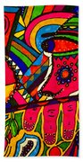 Driven To Abstraction - Parts And Pieces Beach Towel