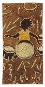 Drummer Beach Towel
