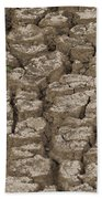 Dry Cracked Mud  Beach Towel