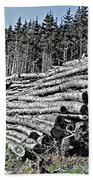 Dry Firewood Beach Towel