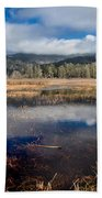 Dry Lagoon In Winter Panorama Beach Towel