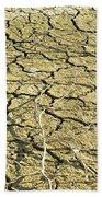 Dry Soil In Lake Bottom During Dryness Beach Towel