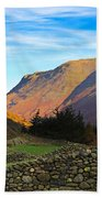 Dry Stone Walls In Patterdale In The Lake District Beach Towel