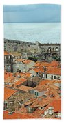 Dubrovnik Rooftops And Walls Beach Towel