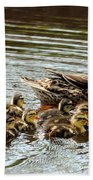 Duck Family Beach Towel