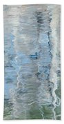 Duck On Pond, Abstract Beach Towel