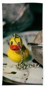 Duck The Hour Beach Towel