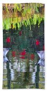 Duckland Pond Reflections Beach Towel