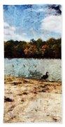 Ducks At The Beach Again Beach Towel