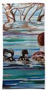 Ducks In A Row Beach Sheet