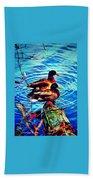 Ducks On A Log Beach Towel
