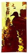 Ducks On Red Lake 3 Beach Towel