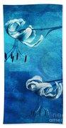 Duet - Blue03 Beach Towel