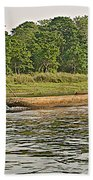 Dugout Canoe In The Rapti River In Chitin National Park-nepal Beach Towel