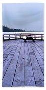West Vancouver Dundarave Triptych Centre Panel Beach Towel