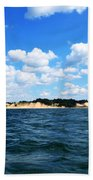 Dunes And Lake Michigan Beach Towel by Michelle Calkins