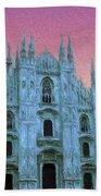 Duomo Di Milano Beach Sheet