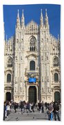 Duomo In Milano. Italy Beach Towel by Antonio Scarpi