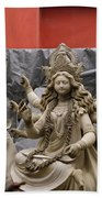 Durga In Kumartuli Beach Towel