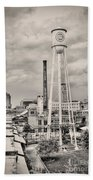 Durham In Black And White Beach Towel
