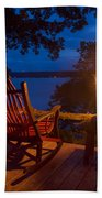 Dusk On The Lake Square Beach Towel