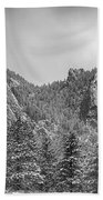 Dusted Flatiron In Black And White  Beach Towel