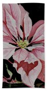 Dustie's Poinsettia Beach Towel