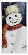 Dustie's Snowman Beach Towel