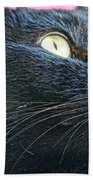 Dusty Black Cat Beach Towel