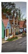 Dutch Shops On Windmill Island In Holland Michigan Beach Towel