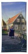 Dutch Traditional Dress Beach Towel