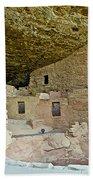Dwellings In Spruce Tree House On Chapin Mesa In Mesa Verde National Park-colorado  Beach Towel