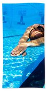 Dynamic Apnoea Beach Towel by Hagai Nativ